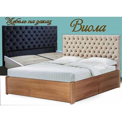 Деревянная кровать с ящиками Виола