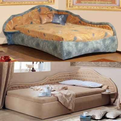 Угловая деревянная кровать Вероника