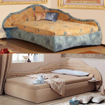 Угловая мягкая кровать Вероника