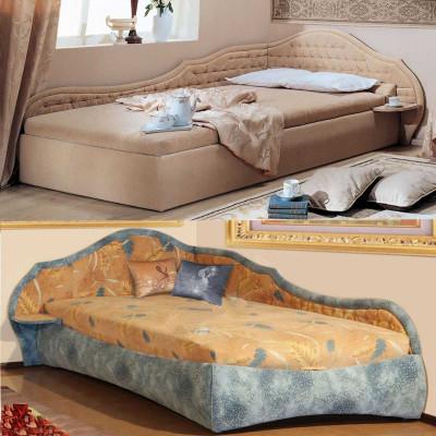 Угловая односпальная кровать Вероника