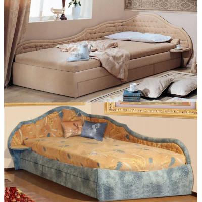 Угловая кровать с ящиками Вероника