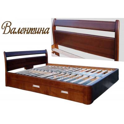 Деревянная двуспальная кровать Валентина