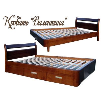 Деревянная односпальная кровать Валентина