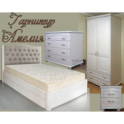 Спальный гарнитур Амелия - мебель в спальню классика КВК