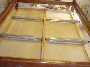 Лафет для моделей с двухсторонними ящиками